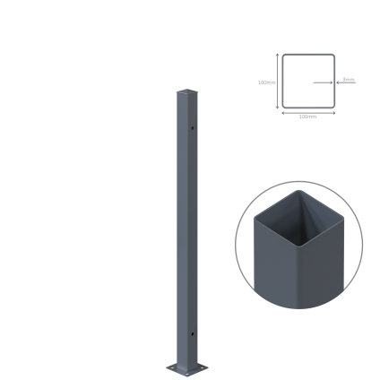 Stalp metalic, H 185 cm,...